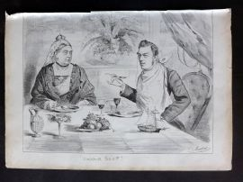 E. C. Mountfort - The Dart 1880's Political Cartoon Windsor Soup. Queen Victoria